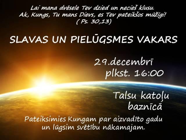 Slavas vakars 29.12.2012.