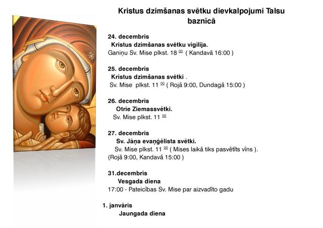 Kristus dzimšanas svētku dievkalpojumi Talsu baznīcā-page0001